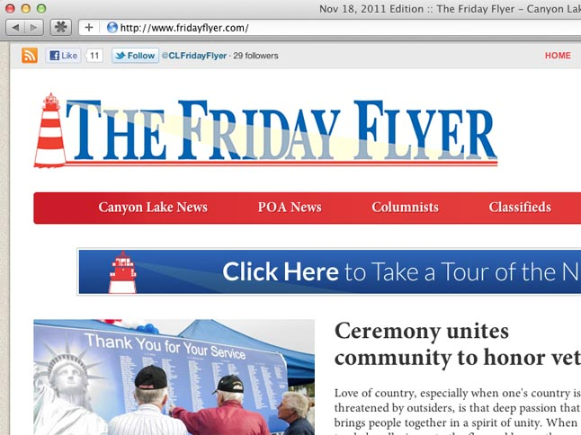 The Friday Flyer website gets a facelift