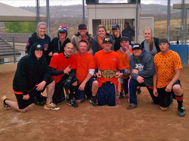 Orange Crush wins coed softball championship