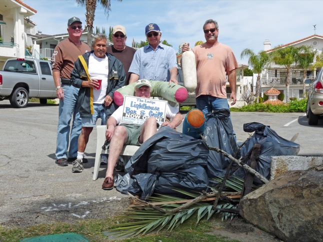 Yacht Club members turn up for clean-up