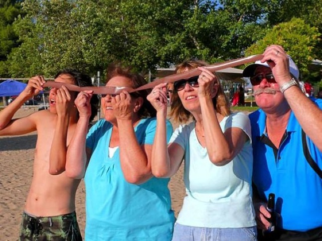 Friends hold Eclipse Party