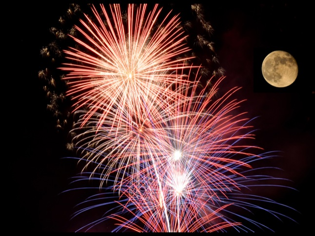 Fireworks show is grand finale of a beautiful day