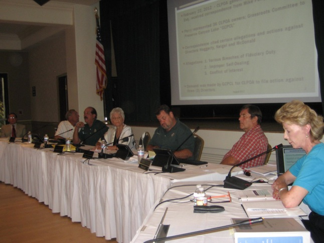 Directors exonerated at Tuesday's Board meeting