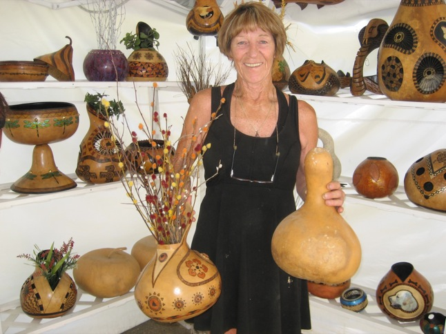 Barbara Kryka – from golf champion to gourd artist