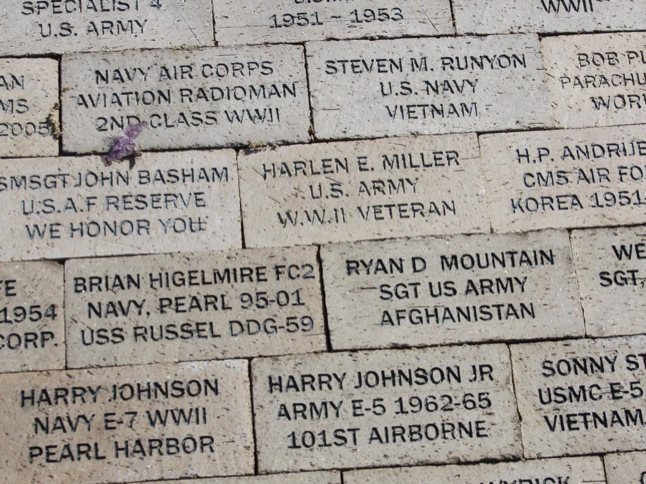 Order a brick for Veterans Memorial