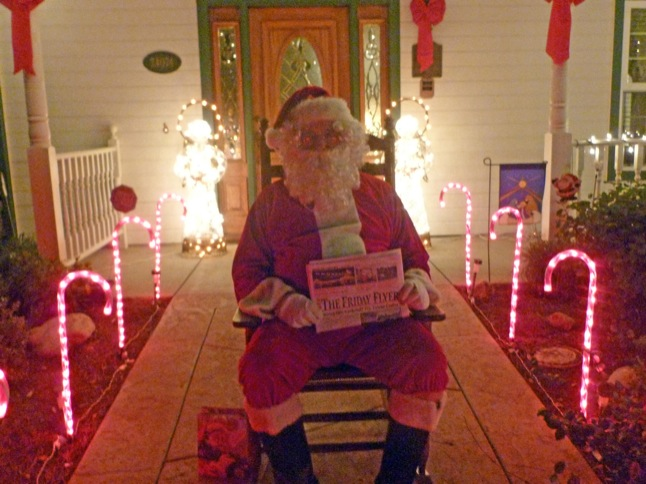 Wegs want everyone to stop by, say 'hi' to Santa