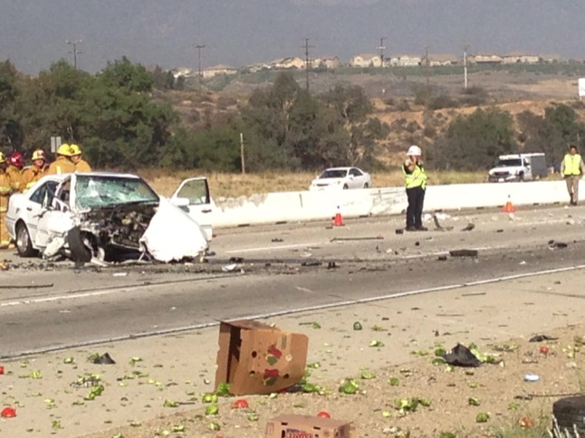 Canyon Laker minutes behind Monday's fatal I-15 crash