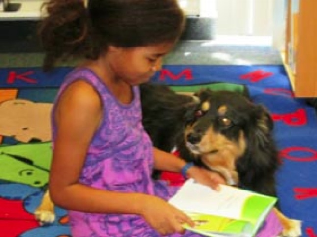 Read to a friend during 'Pawsome Reading'