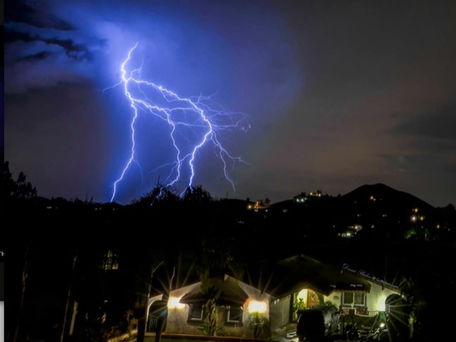 Lightning and thunder are rousing start to week