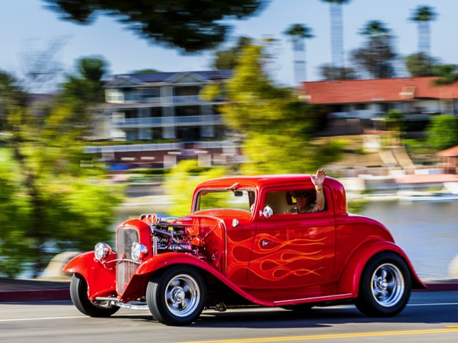 Classic and custom cars on the move