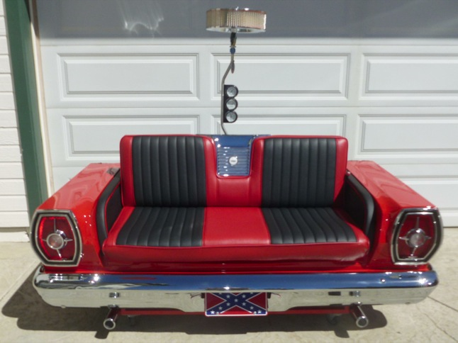 Car couch is perfect for man cave