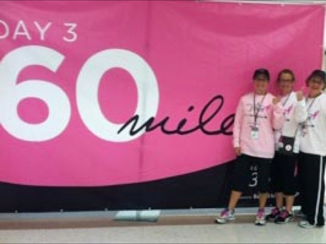 Sisters walk to fight breast cancer