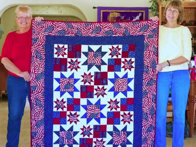 Quilters provide comfort for veterans