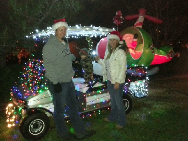 Forty carts join Golf Cart Parade and Toy Drive