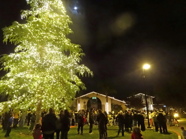 Tree-lighting at Lodge a festive occasion