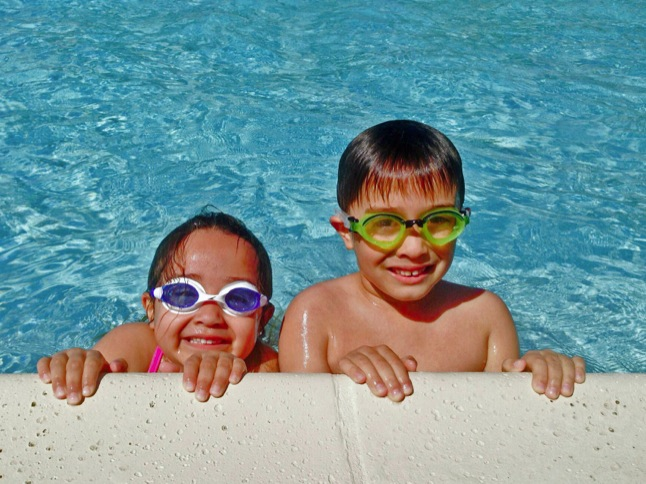 Pool opens under sunshine and warm temps