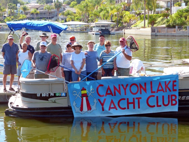 Yacht Club takes on annual lake cleanup