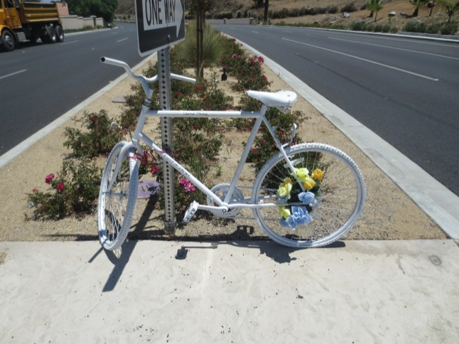 Ghost Bike is memorial to bicyclist killed on RRC Rd.