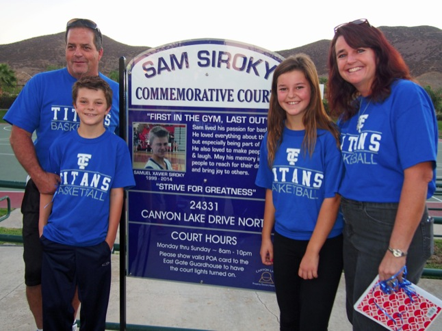 Basketball Courts dedicated to memory of Sam Siroky