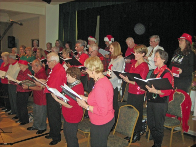 Choraleers are carolers for holiday events