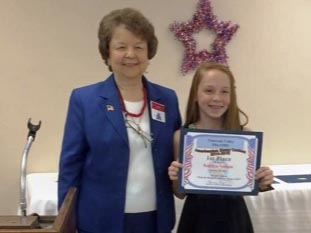 Kendra Nathan wins top award in patriotic essay contest