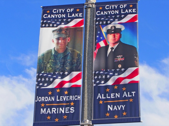 New Military Banners go up in Towne Center