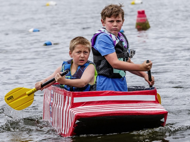 Anchors aweigh for Cardboard Boat Challenge