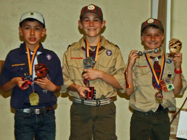 Scouts learn about rocks, reverence, racing