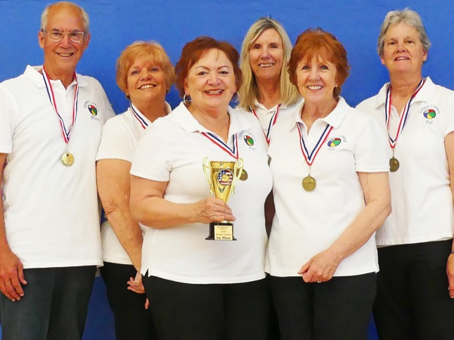 Chair Volleyball brings home gold, silver, bronze