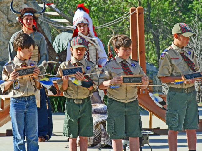 Cub Scouts receive Arrow of Light awards