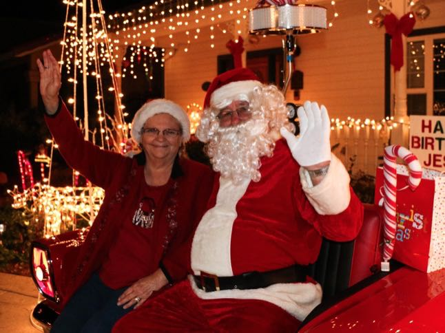 Stop by Weg's home this weekend to visit Santa