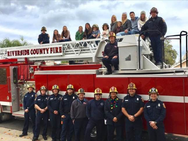 Firefighters make special delivery to fallen firefighter's family