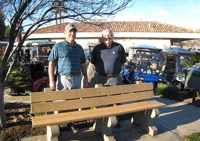 Tournament funds pay for new golf course benches